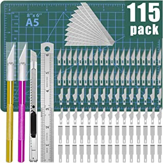 DIYSELF 74pcs Exacto Knife Upgrade Precision Carving Craft Knife Hobby Knife Exacto Knife Kit 70 Spare Xacto Blades for Ar...