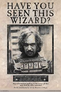 "Trends International Wizarding World: Harry Potter-Sirius Black Wanted Poster, 22.375"" x 34"", Unframed Version"