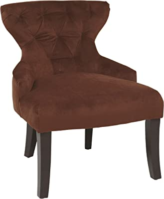 Pleasant Amazon Com Posh Living Adrian Teal Velvet Accent Chair Machost Co Dining Chair Design Ideas Machostcouk