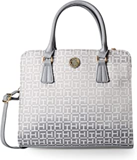 Tommy Hilfiger Crossbody Bag for Women - Canvas, Silver