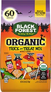 Black Forest Organic Halloween, Trick or Treat Candy Mix, 60ct Bag (24.9 Oz)