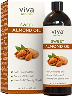 Almond Oil (16 oz); Sweet Almond Oil for Skin or Almond Oil for Hair, The Perfect Natural Body Oil for Women, Great as Uns...