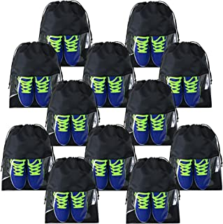 Travel Accessories Shoe Packing Bags 12 Pack Waterproof Large Black Shoe Pouch Bags Clear for Men Women Gym Sports Travel