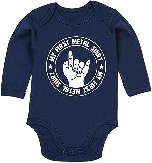 Shirtracer Strampler Motive - My First Metal Shirt - Baby Body Langarm