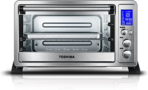Toshiba AC25CEW-SS Digital oven with Convection/Toast/Bake/Broil Function 6-Slice Bread/12-Inch Pizza Stainless Steel