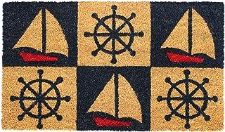 """Rugsmith Red Marine Machine Tufted Doormat, 18"""" x 30"""", Blue"""