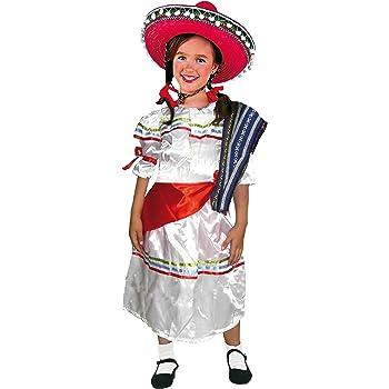 EL CARNAVAL Disfraz Mejicana Infantil Talla de 6 a 8 años: Amazon ...