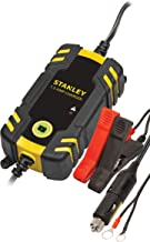 STANLEY BC209 Fully Automatic 1.5 Amp 12V Battery Charger/Maintainer with Cable Clamps