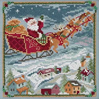 To All a Goodnight Beaded Counted Cross Stitch Kit Mill Hill 2018 A Visit From St Nick Quartet Series MH171834