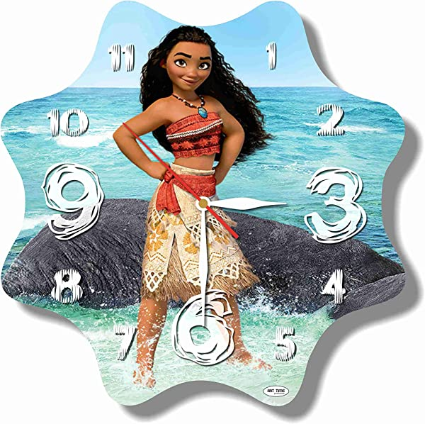 MAGIC WALL CLOCK FOR DISNEY FANS FBA Moana 11 Handmade Made Of Acrylic Glass Get Unique D Cor For Home Or Office Best Gift Ideas For Kids Friends Parents And Your Soul Mates