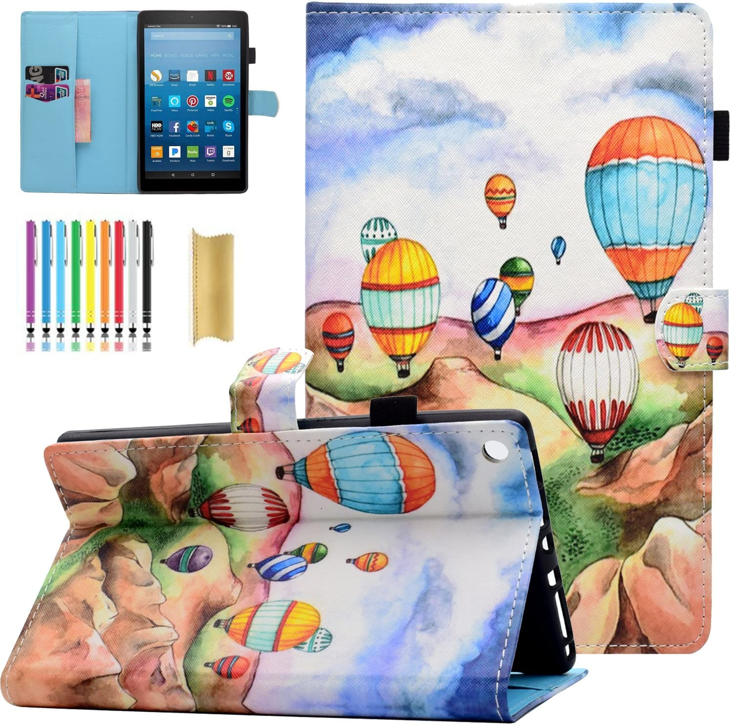 Amazon Fire HD 8 Tablet Case Slim Limited time cheap sale Premium Omaha Mall Ultra Cute Casii Leat