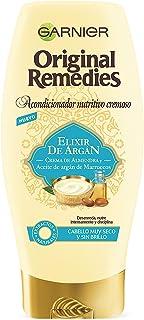 Garnier Original Remedies Elixir de Argán Acondicionador nutritivo cremoso sin silicona para un pelo muy seco y sin brillo...