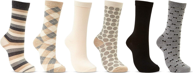 Mio Marino Women's Dress Crew Socks Casual Cotton