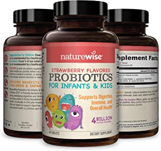 NatureWise Chewable Probiotics for Kids and Infants | Clinically Proven for Digestion and Immune Support | Probiotic Powde...