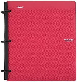 Five Star Flex Hybrid NoteBinder, 1 Inch Binder, Notebook and Binder All-in-One, Red (72005)