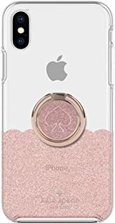 Kate Spade New York Gift Set Bundle | for Apple iPhone Xs Max and | Protective Phone Case [Scalloped (Rose Gold Glitter/Cl...