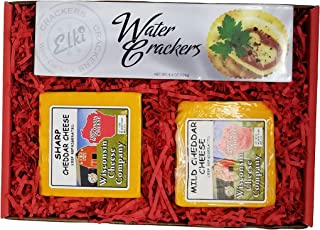 WISCONSIN CHEESE COMPANY'S - 100% Wisconsin Classic Cheddar Cheese & Cracker Gift Box. Great Gift Idea for Family and Frie...
