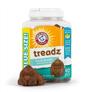 Arm & Hammer Treadz Treats Gorilla Chews Dog Treats in Peanut Butter & Banana Flavor, 40 pcs Value Bucket | Dog Dental Tre...