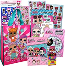 LOL Surprise Activity Toy Set for Girls by ColorBoxCrate 7 Pack Includes 3 LOL Surprise Dolls Coloring Books, LOL Surprise Dolls Bag, 70+ LOL Dolls Stickers, Play Pack, Crayons and More, Ages 3 to 10