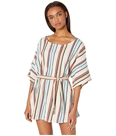 Roxy Loia Bay Yarn-Dye Dress Cover-Up (Marshmallow Lemon Chill Stripe) Women