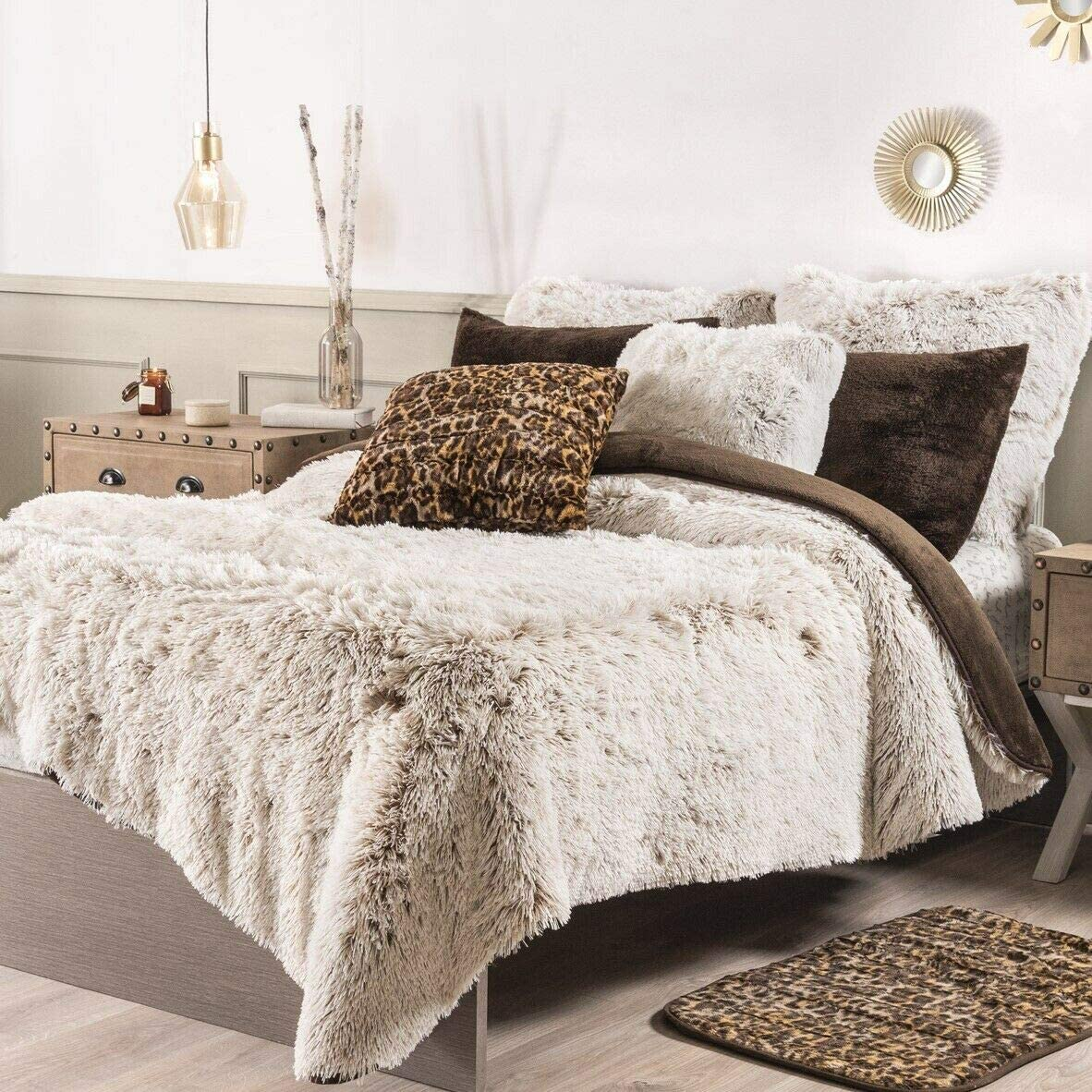 DreamPartyWorld National products 35% OFF White Winter Shaggy Blanket King with Sherpa Siz