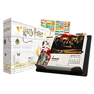 Harry Potter 2021 Calendar, Box Edition Bundle - Deluxe 2021 Harry Potter Day-at-a-Time Box Calendar with Over 100 Calendar Stickers (Harry Potter Gifts, Office Supplies)
