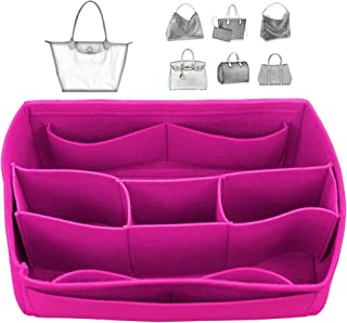 [Fits Long.champ Bags] Felt Tote Organizer (w/Detachable Compartments), Bag in Bag, Wool Purse Insert, Customized Tote Organize, Cosmetic Makeup Diaper Handbag