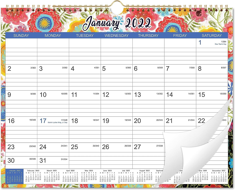 2022 Wall Calendar - Wall Calendar 2022 From Jan 2022 to Dec 2022, 12 Monthly Wall Calendar with Julian Date, 14.75
