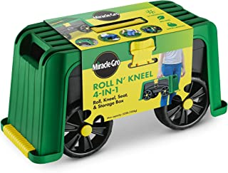 Best Miracle-Gro 4-in-1 Roll N Kneel Gardening Accessory, Blue/Green/Yellow Review