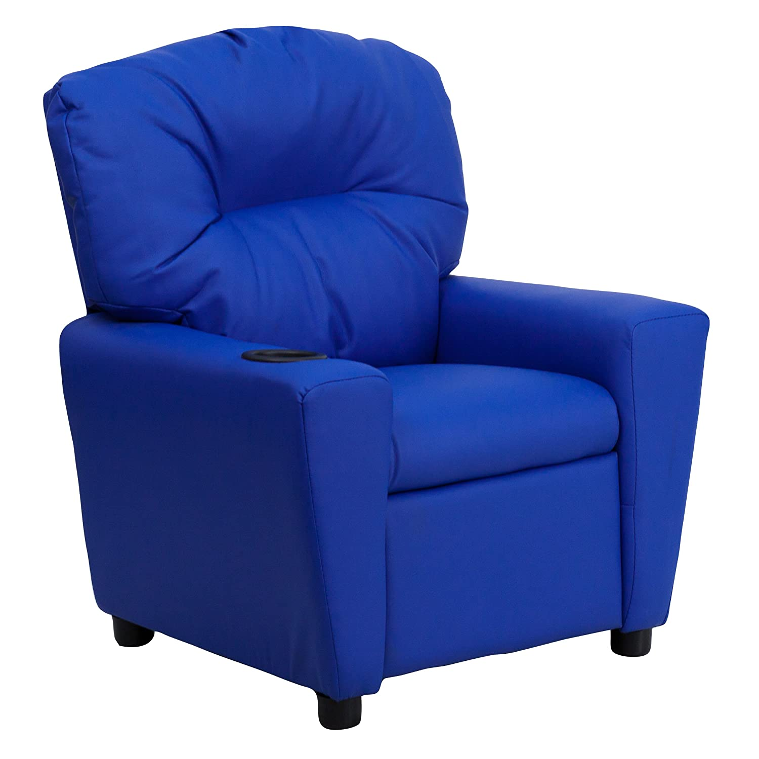 Contemporary Blue Vinyl San Diego Mall Large-scale sale Kids Cup with Recliner Holder