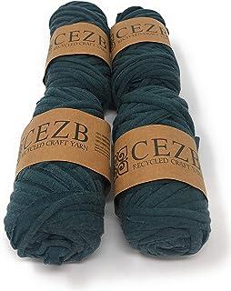 T-Shirt Yarn (4 Pack) Bulky Fettuccini Zpagetti Style Elastic Strong Cloth T Shirt Yarn..