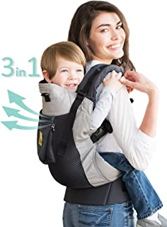 LÍLLÉbaby 3 in 1 CarryOn Toddler Carrier - Airflow, Charcoal Silver