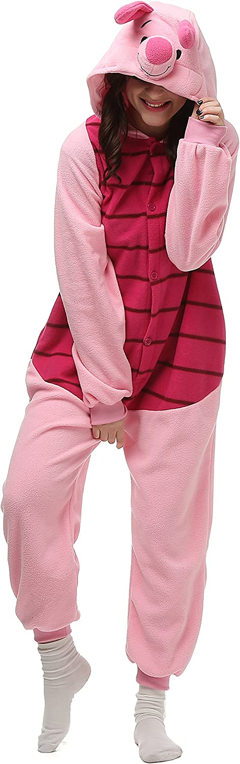 VU Regular discount ROUL Halloween Costume Onesie Pyjamas Piglet Limited time for free shipping Adult