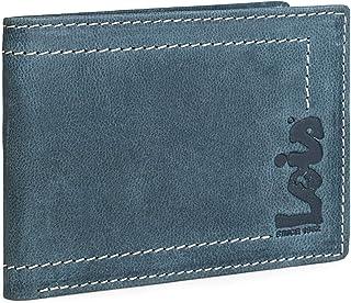 Lois - Cartera Hombre Piel con Monedero RFID. Billetero de Cuero Genuino. Tarjetas documentación Billetes. Caja para Calid...