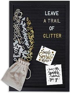 Gadgy® - Placa de fieltro retro con letras doradas, plateadas y blancas, 30 x 45 cm