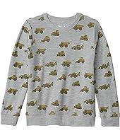 Tractor Toss Cozy Knit Crew Neck Pullover Sweater (Little Kids/Big Kids)
