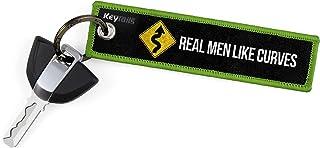 Llaveros de KEYTAILS, etiqueta clave de calidad premium para motocicleta, coche, scooter, ATV, UTV [hombres reales como curvas]