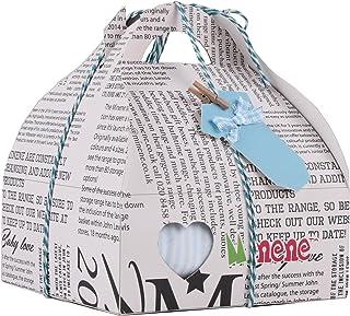 Minene, Minene Case - Caja de regalo, incluye body a rayas con aplique, pantalón, calcetines y corazoncito de tela, color azul