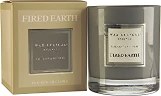 Fired Earth Earl Grey and Vetivert Candle