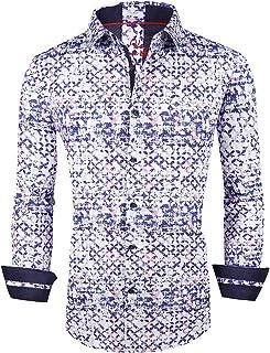 Mens Digital Printed Dress Shirts Regular Fit Easy Care Regular Fit Men Shirt