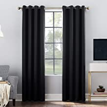 "Sun Zero Oslo Theater Grade Extreme 100% Blackout Grommet Curtain Panel, 52"" x 84"", Black"