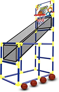 with 4 Balls Indoor Kids Basketball Hoop Arcade Game Tundras Sports Basketball Hoop Arcade Game for Kids Basketball Shooting System for Boys and Girls Ages 1-14