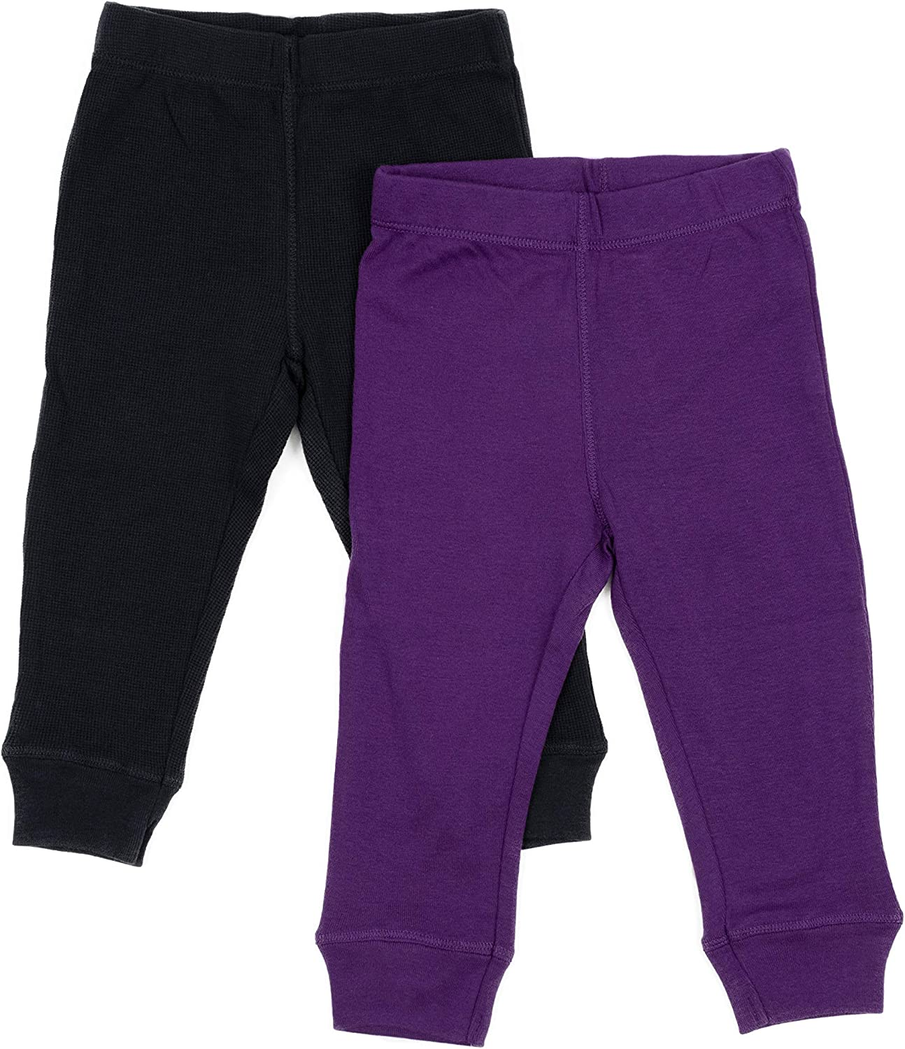 Variety of Colors Size 3-24 Months Leveret Solid Baby Crawling Pants /& Legging Set Kids Baby Pants