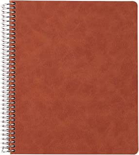 """$22 » Erin Condren 7"""" x 9"""" Spiral Coiled Sketchbook (Blank Pages) Focused - Camel Cover Vegan Leather Cover with 160 Pages, 80 S..."""