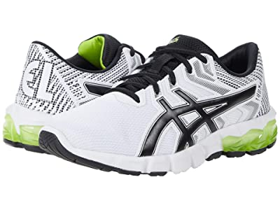 ASICS Kids GEL-Quantum 90 2 (Big Kid) (White/Lime Zest) Boy