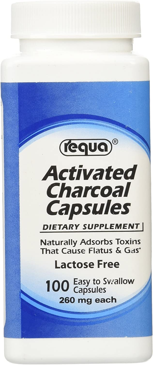 Requa Activated Free Shipping New New product type Charcoal 260 mg 100 Count