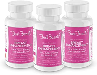 Breast Enhancement Pills - Vegan Friendly - 3 Month Supply | #1 Natural Way to a Fuller, Firmer Look by BUST BUNNY