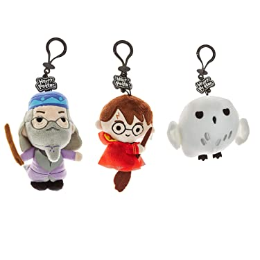 Plush Harry Potter Keychains Set – 3 Washable, Polyester Figures Including Dumbledore, Harry & Hedwig – Harry Potter Gifts, Accessories, Collectibles, Party Favors, Merch by PMI, 4.5 in.
