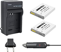 Bonacell NB-4L 1200mAh Replacemen Battery 2 Pack and Charger Kit Comaptible with Canon PowerShot ELPH 100/300/310 HS, SD10...