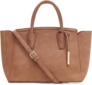 LaBante London 'Grant' Vegan Leather Carryall Laptop Bag for Women (Brown)